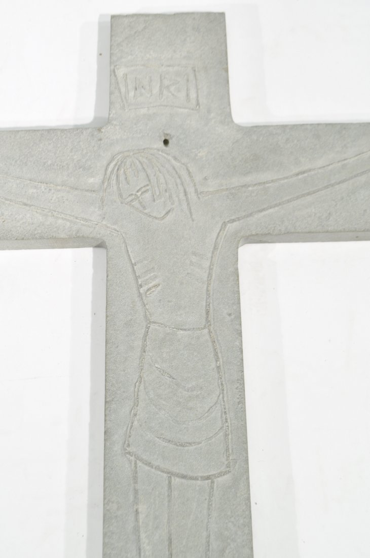 TOMAS PENNING (1905-1982) CARVED CROSS - 5