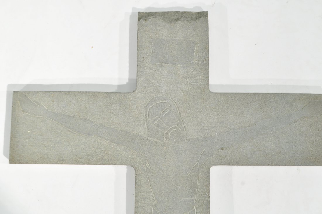 TOMAS PENNING (1905-1982) CARVED CROSS - 7