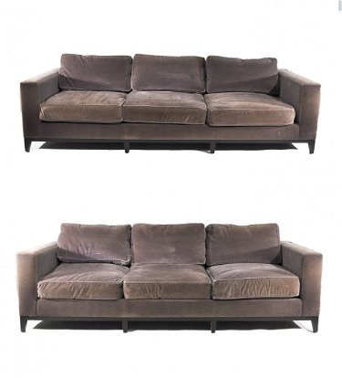 Superb Pair Of Christian Liaigre Mohair Sofas Lamtechconsult Wood Chair Design Ideas Lamtechconsultcom