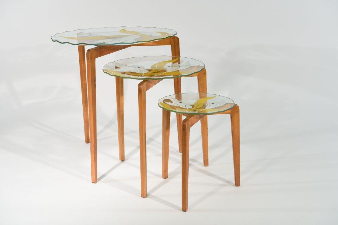 SET OF (3) GIO PONTI STYLE NESTING TABLES