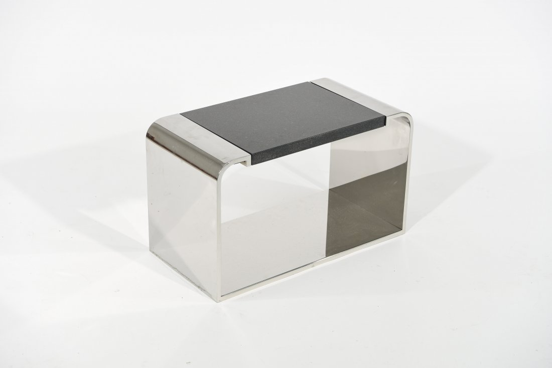 PACE (ATTR.) MARBLE WATERFALL SIDE TABLE