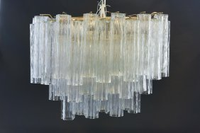 Venini Or Camer Large Tiered Chandelier