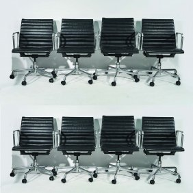 (8) Eames; Herman Miller Executive Armchairs