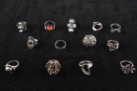 Grouping Of Mid-century Scandanavian Rings