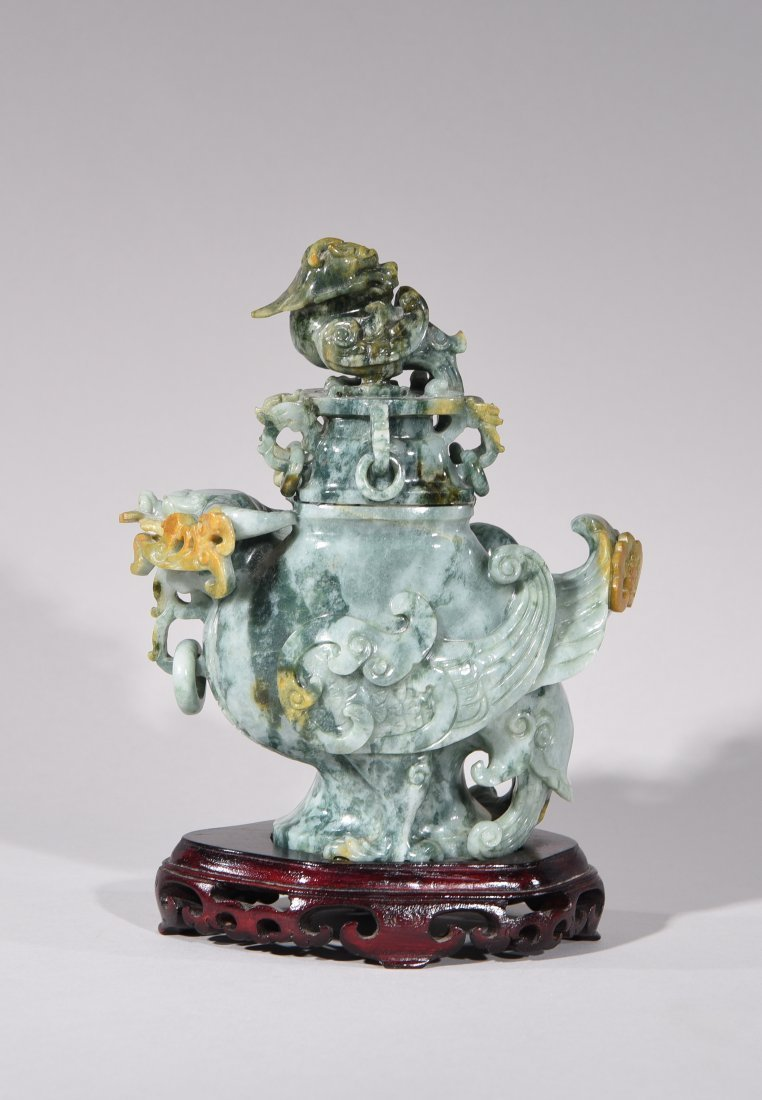 CHINESE CARVED JADE SENSOR