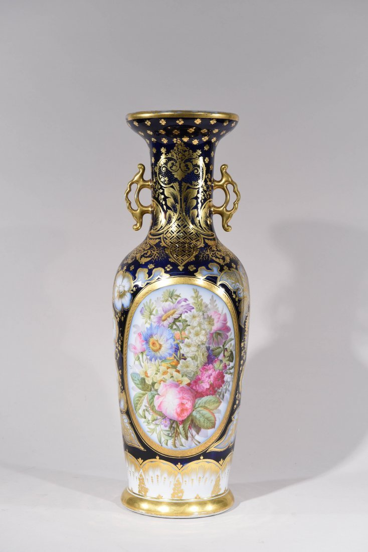 LARGE FRENCH OLD PARIS PORCELAIN VASE