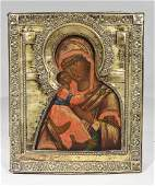 RUSSIAN ORTHODOX ICON - THE VLADIMIR MOTHER OF GOD