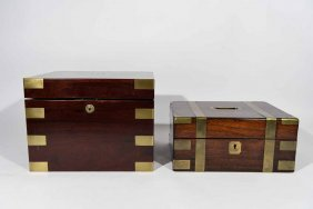 A Benson & Hedges Cigar Humidor And Another