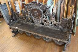 Antique Carved Victorian bench