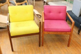 (2) George Nelson For Herman Miller Arm Chairs