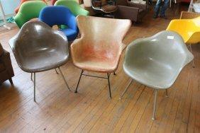 (3) Fiberglass Shell Chairs Incl. Herman Miller