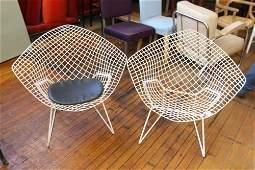 Pair of Knoll Bertoia diamond chairs
