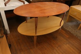 Two Coffee Tables With Bent Wood Legs.