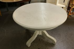 White Pedestal Base Dining Table