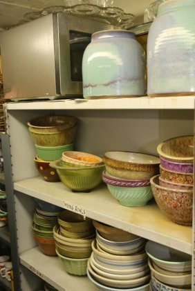 Grouping Of Stoneware Mixing Bowls, As Well As