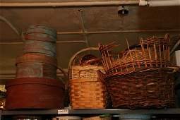 Grouping of baskets as well as large pantry