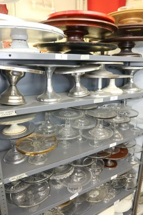 Large Grouping Of Cake Stands, Incl Glass And