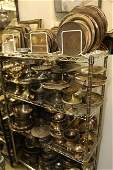 Large grouping of silver plate