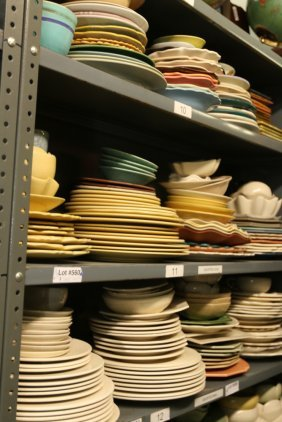 Grouping Of Stoneware And Pottery, Large Plates,