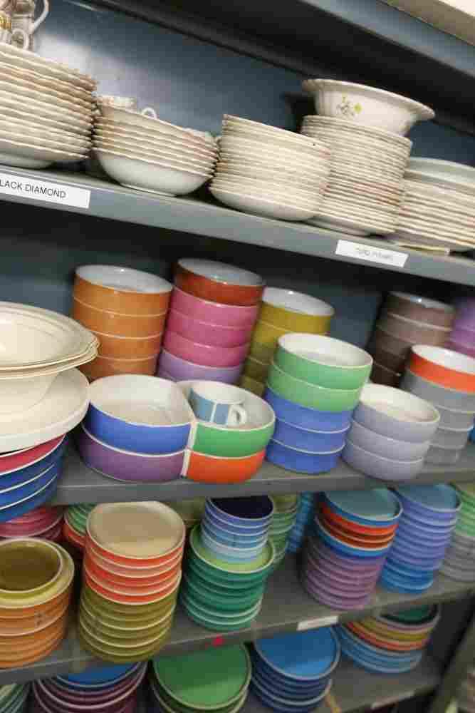 Grouping of Block Chromatics ceramic dinnerware.