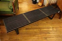 6 foot George nelson slat bench