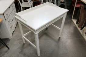 White Painted Vanity Table.