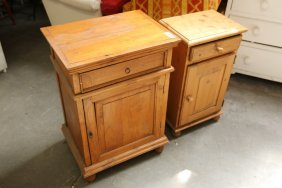 Two Pine Side Tables.