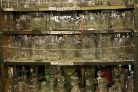 Lot Of Medium Size Clear Glass And Crystal Vases.