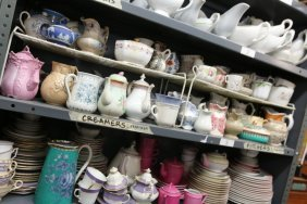 French Porcelain Pitchers Etc, Along With Gravy