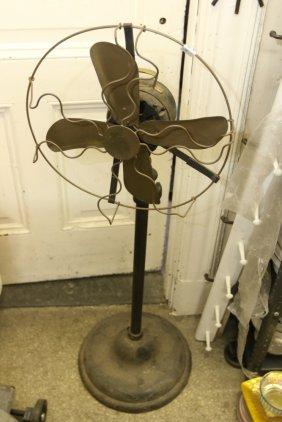 Antique Brass Blade Floor Fan