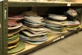 Grouping Of Ceramic Chargers, Platters, And