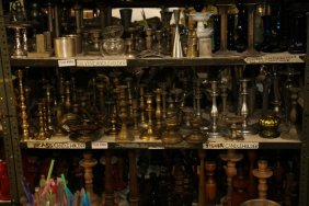 Assortment Of Brass And Other Metal Candle