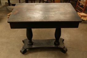 Empire Style Occasional Table With One Drawer.