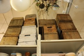 Large Grouping Of Wooden Boxes And Crates.