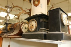 Grouping Of Mantel And Shelf Clocks.