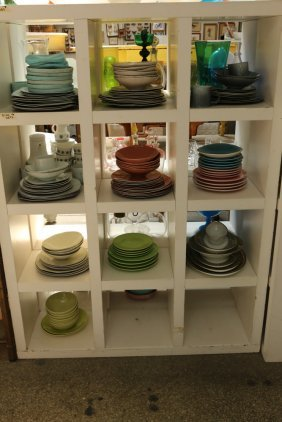 24 Cubby's Of Porcelain, China, Glass, Incl Cups,