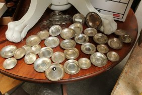 Small Sterling Silver Trays Some Having Glass