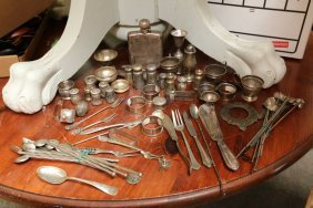 Sterling Silver Items Incl Shakers, Flask, Napkin