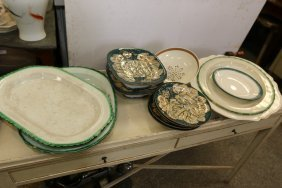 Grouping Of English Creamware Platters As Well As