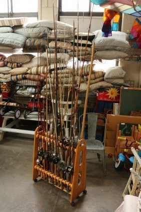 Fishing Poles Incl Some With Cork,