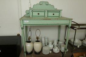 Green Painted Vanity