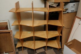 Modern Blonde Shelf Unit