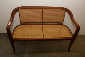 Edward Wormley Caned Seat Bench
