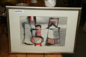Hipolit Watercolor Abstract Painting