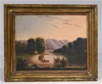 19TH C. AMERICAN HUDSON RIVER SCHOOL LANDSCAPE