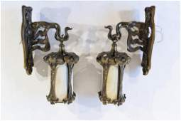 ART NOUVEAU WALL SCONCES