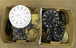 SHIPS DECK CLOCK FACES  DIALS US NAVY WWII ETC