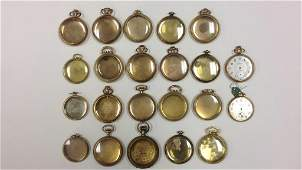 GROUPING OF GOLD FILLED POCKET WATCH CASES