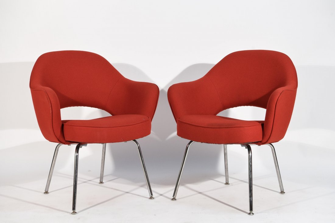 (2) EERO SAARINEN; KNOLL EXECUTIVE ARMCHAIRS