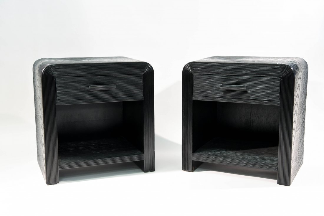 PAIR OF BLACK NIGHTSTANDS